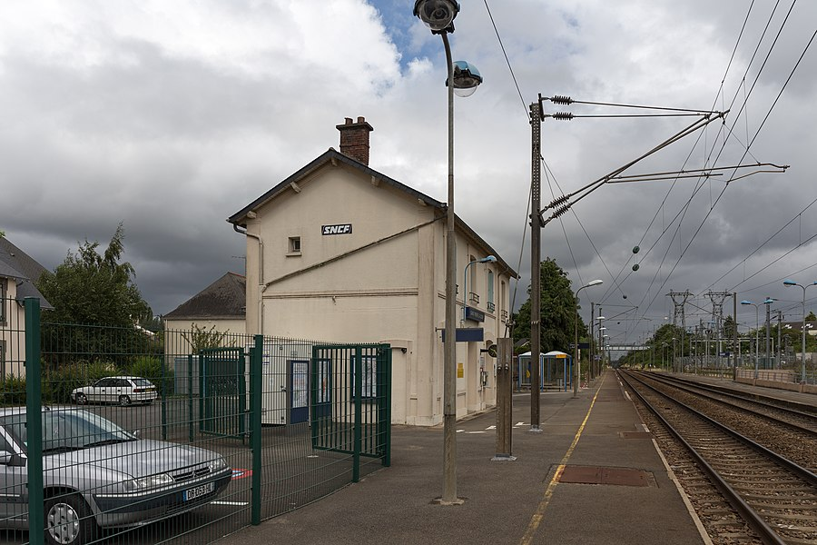 Train station of Saint-Pierre-la-Cour.