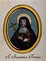 Saint Joan of Valois. Coloured line engraving. Wellcome V0032334.jpg