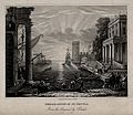 Saint Ursula. Aquatint by G. Dawe after Claude, le Lorrain. Wellcome V0033121.jpg