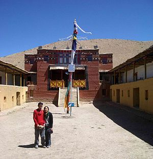 Tangyud Monastery - Entrance to Tangyud Gompa, Spiti, 2004.