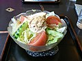 Salad udon by zezebono in Shinjuku, Tokyo.jpg