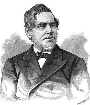 Engraving of American author and minister Samu...