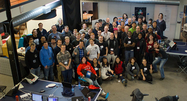 Group photo from San Francisco hackathon January 2012