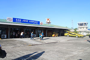 San Jose Airport (Mindoro) - The old passenger terminal of the airport in 2013.