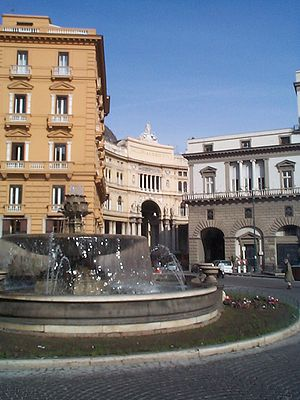 Music of Naples -  The San Carlo theater (building on right in photo) in Naples.