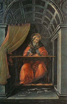 Image illustrative de l'article Saint Augustin dans son cabinet de travail (Botticelli, Offices)
