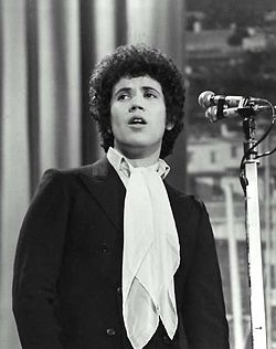 Lucio Battisti performing at the 19th Sanremo Music Festival, 1969