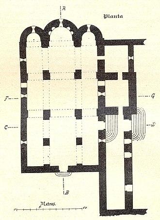 Monestir de Sant Llorenç del Munt - Image: Santllorençmunt planta