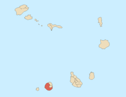 Location of São Filipe