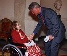 Sarah McClendon and Bill Clinton.jpg