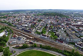 Sarpsborg station and town centre from north (2).jpg