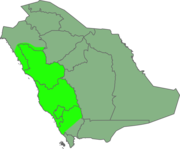 Map showing location within Saudi Arabia