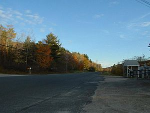 Savoy, Massachusetts - A view down Route 116