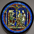 Scene from the Life of Thomas Becket, artist unknown, Britain or France, c. 1190-1205, metal, glass, vitreous paint - Fogg Art Museum, Harvard University - DSC00961.jpg