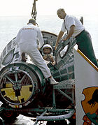 Schirra, Stafford and Gemini on Deck - GPN-2000-001412