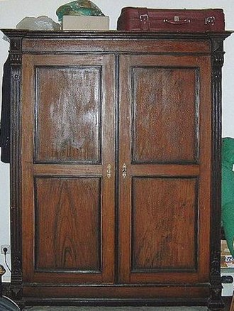 Closet - An antique wardrobe.