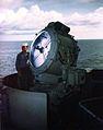 Searchlight aboard USS Missouri (BB-63) 02 in 1944.jpg