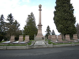 Carson Boren - The Denny Family plot, where Carson and his daughter Livonia are buried.