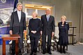 Secretary Kerry and Former Secretaries of State Clinton, Powell and Albright Pose for a Photo at a Reception Celebrating the Completion of the U.S. Diplomacy Center (31408747654).jpg