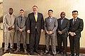 Secretary Pompeo with U.S. Embassy Indonesia Marine Security Guards (43850384861).jpg