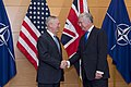 Secretary of Defense James Mattis meets with Britain's Secretary of State for Defense Michael Fallon at the NATO Headquarters in Brussels, Belgium, February 15, 2017 (32795079581).jpg