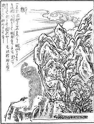 Konjaku Gazu Zoku Hyakki - Image: Sekien Hiderigami