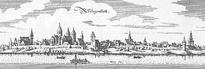 Seligenstadt - Seligenstadt – extract from Topographia Hassiae by Matthäus Merian the Younger, 1655
