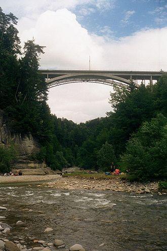Sense (river) - The River Sense at the Schwarzwasser junction