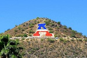 """Sentinel Peak (Arizona) - The """"A"""" on Sentinel Peak"""