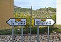 Senyals de trànsit a Castell de Castells.JPG