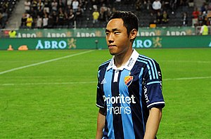 Moon Seon-min - Moon on his debut for Djurgårdens IF in 2015