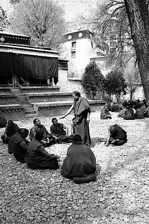 Sera Monastery - monks in the courtyard.jpg