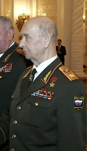 Order of Zhukov - Marshal of the Soviet Union Sergei Sokolov, a recipient of the Order of Zhukov