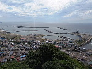 Setana Port from Risshozan.JPG
