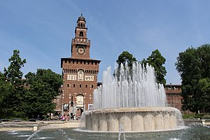 Sforza Castle (Castello Sforzesco) Milan high quality exterior view