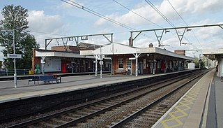 railway station in Shenfield, Essex, United Kingdom