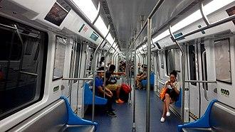 Line 3 (Shenzhen Metro) - Interior of CRRC Nanjing Puzhen train