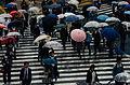 Shibuya kruising in de regen, -30 april 2014 a.jpg