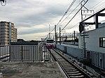 Shin-Keisei Shin-Kamagaya Station track No.1 201807 01.jpg