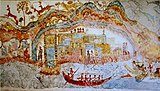 Ship procession fresco, part 1, Akrotiri, Greece.jpg