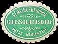Siegelmarke Gemeinde Grossolbersdorf - Amtshauptmannschaft Marienberg W0253210.jpg