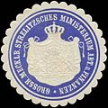 Siegelmarke Gr. Mecklenb. Strelitzsches Ministerium Abt. d. Finanzen W0391423.jpg