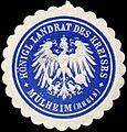Siegelmarke Königlicher Landrath des Kreises - Mülheim (Rhein) W0225930.jpg