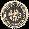 Siegelmarke Königliches Eisenbahn - Betriebsamt Braunschweig W0210568.jpg