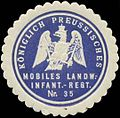 Siegelmarke K.Pr. Mobiles Landw.-Infanterie-Regiment Nr. 35 W0346862.jpg