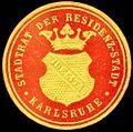 Siegelmarke Stadtrat der Residenz - Stadt Karlsruhe W0233764.jpg