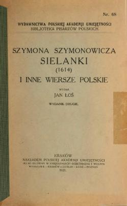 Sielanki 1614 I Inne Wiersze Polskiecałość Wikiźródła