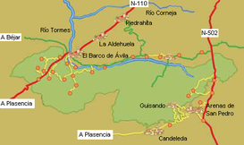 Sierra De Gredos Mapa.Parque Regional De La Sierra De Gredos Wikipedia La