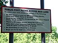 Sign on footpath at entrance to MOD land - geograph.org.uk - 1357252.jpg