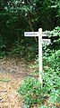 Signpost for long distance paths on Marley Common - geograph.org.uk - 962805.jpg